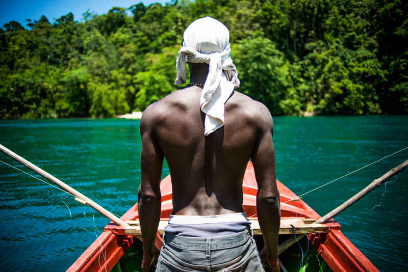 Jamaican fisherman Travel along Jamaica